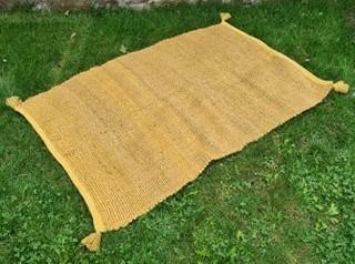 MT78 jute moutarde - 10€  100x150cm